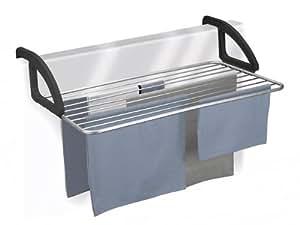 Metaltex Ischia - Tendedero de aluminio para balcón, 10 metros