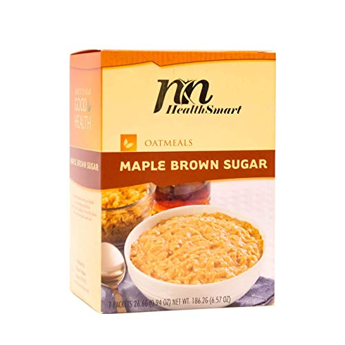 HealthSmart - High Protein Diet Oatmeal - Instant Hot Oatmeal - Maple Brown Sugar - 15g Protein - Low Calorie - Sugar Free - Gluten Free (7/Box) (Instant Oatmeal Maple And Brown Sugar Nutrition)