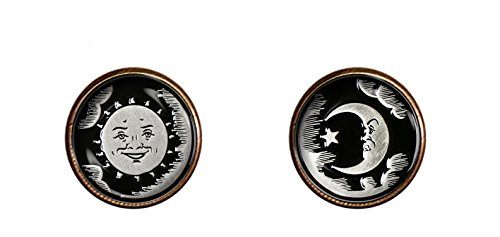 Ouija sun and moon cufflinks 16mm handmade weeja Spirit Board jewelry pendant charm gifts Chaoticfashion (Board Jewelry Pendant)