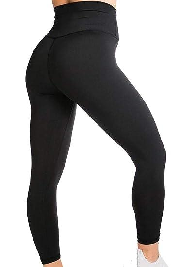 1f6bb4a2080fc Gocgt Women High Waist Yoga Pants Running Workout Leggings Fitness Capris  at Amazon Women's Clothing store: