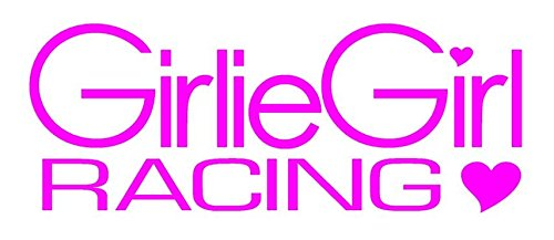 Girlie Girl Racing Decal Sticker - Peel and Stick Sticker Graphic - - Auto, Wall, Laptop, Cell, Truck Sticker for Windows, Cars, Trucks ()