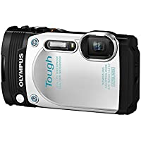Olympus TG-870 Tough Waterproof Digital Camera (White) - International Version
