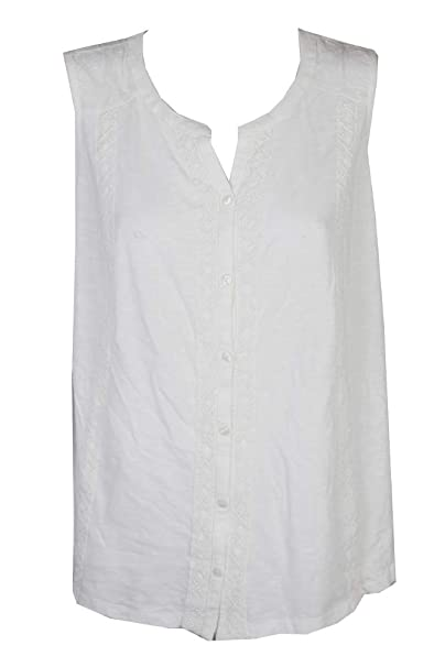 868ccb1498eadd Image Unavailable. Image not available for. Color  Style   Co Plus Size  Sleeveless Cotton Blouse 1x