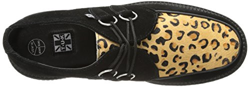 Zapatillas Negro Deporte Creeper Adulto Sole Low de U Black T Leopard Round Unisex K wqBpYPY