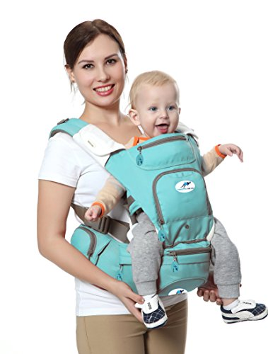 Multifunctional Baby Carrier 8 in 1 Hip Seat & Kangaroo, 360° Ergonomic Soft Baby Front & Back position Carrier/Baby Facing in & Facing Out – for Infant & Toddler, age 3 – 24 month