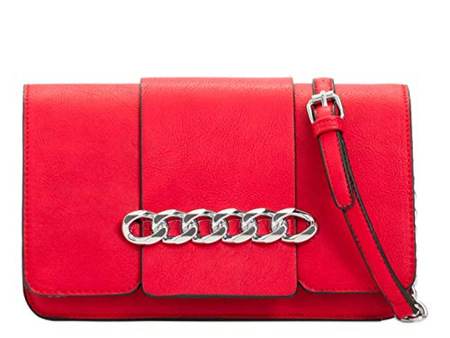 LeahWard Women's Cross Body Bag Small Chain Strap Handbags Shoulder Bag 2141 Red
