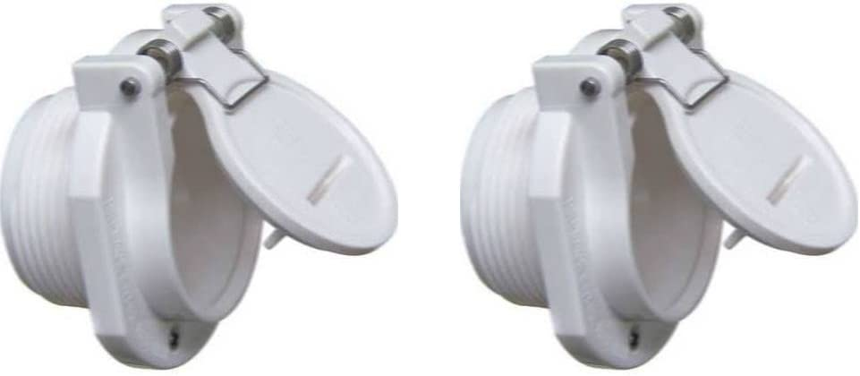 ATIE PoolSupplyTown Free Rotation Pool Vacuum Vac Lock Safety Wall Fitting for Suction Pool Cleaner Replaces Hayward W400BWHP & Pentair GW9530 (Pack of 2)