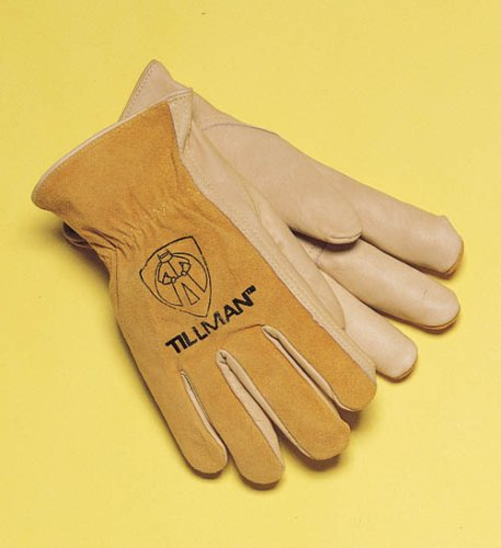 (Tillman 1414 Top Grain/Split Cowhide Drivers Gloves, Medium)