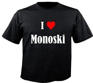 Kinder T-Shirt I Love MonoskiGröße164FarbeSchwarzDruckWeiss