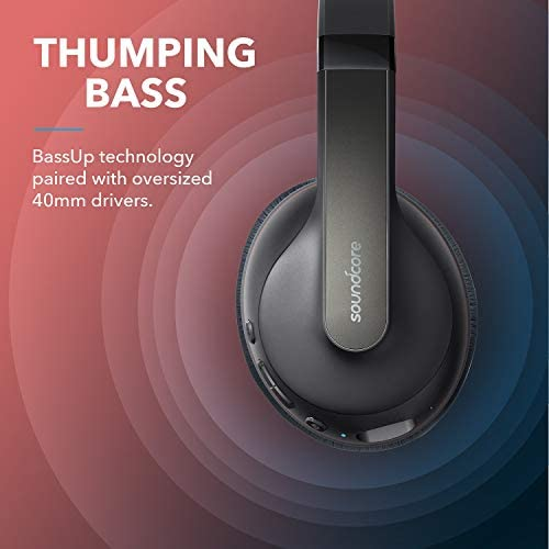 Anker Soundcore Life Q10 Wireless Bluetooth Headphones, Over Ear, Foldable, Hi-Res Certified Sound, 60-Hour Playtime, Fast USB-C Charging, Deep Bass, Aux Input, for Travel, Online Class, Home Office 41lCUPyHXfL