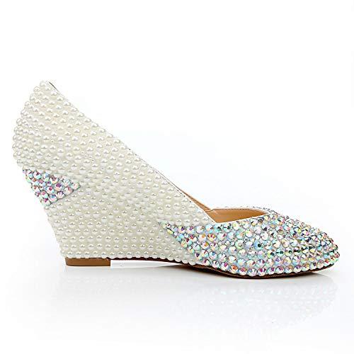 Pointu Chaussures à Pointu Femme Cxq à White Bout Talons Bout 8URTxppna
