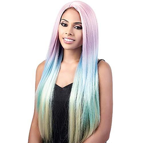 Motown Tress (L. Sorbet) - Heat Resistant Fiber Lace Part Wig in TRUEBLACK - Motown Tress Lace Wig