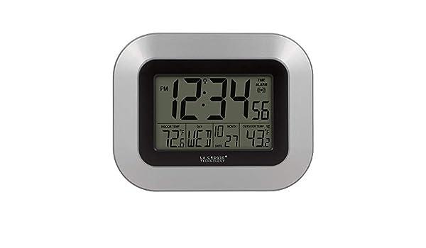 La Crosse Technology WS-8115U-S-INT Reloj de pared digital atómico con temperatura interior y exterior: Amazon.es: Bricolaje y herramientas
