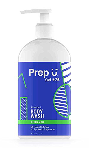 Silk Coconut Body Wash - Prep U Body Wash for Boys - All Natural - Cold Process, Paraben Free - Citrus Mint Scent