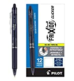 Pilot FriXion Clicker Retractable Erasable Gel Pens Fine Point (.7) Navy Blue Ink Dozen Box; Make Mistakes Disappear, No Need For White Out. Smooth Lines to End of Page, America's #1 Selling Pen Brand
