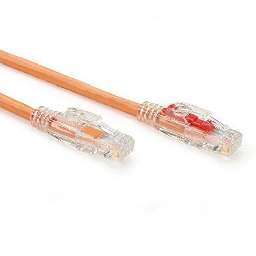 Black Box GigaBase 3 CAT5e 350-MHz Lockable Patch Cable 0.3-m 1-ft. Orange UTP