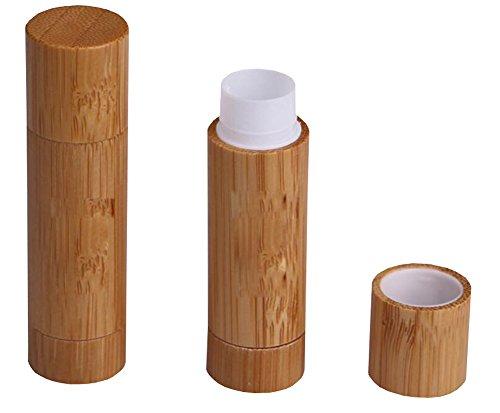 3PCS 5.5ML /5.5G Empty Bamboo Lipstick Lip Balm Gloss Tubes