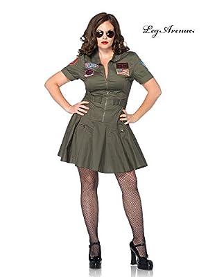 Leg Avenue Women's Plus-Size Licensed Top Gun Flight Dress Plus-Size