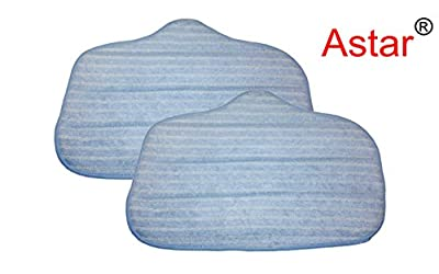 Astar 2 Pack Washable Microfiber Steam Cleaner Pads Fits Steammax Sf-275/sf-370; Replaces Steam Mop Part A275-020;fits Mcculloch Mc-1275
