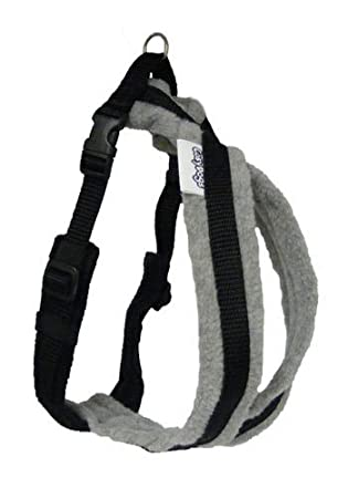 you and your dog walk at ease and comfort with a fleece harness Cosydogs red fleece dog harness sizes 0 to 6