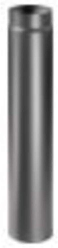 lunghezza 750 mm. Articolo fumisteria Linea Legna:elemento lineare T750 acciaio verniciato,diametro 150 mm