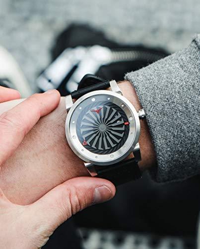 Zinvo Luxury Men's Blade Wrist Watch - Premium Italian Leather Watch Band - 44mm Turbine Watch - Automatic Movement