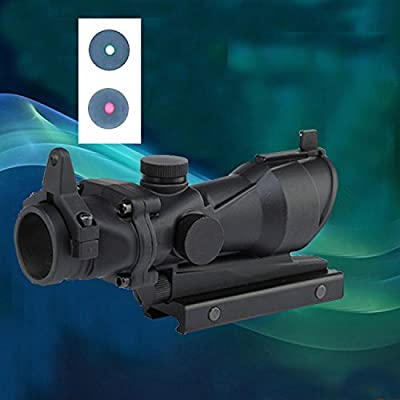 ZATTOP Tactical ACOG Scope 1X32 Red Dot Sight Optical Rifle Scopes with 20mm Rail for Airsoft Gun
