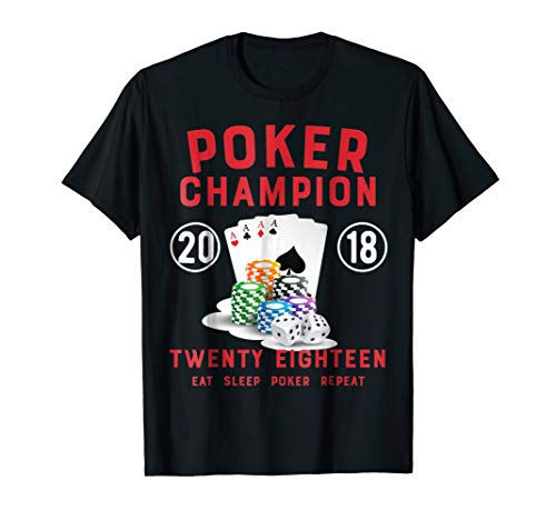 Eat Sleep Poker Repeat - Funny Poker Champion TShirt