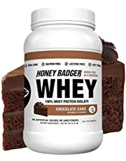 Honey Badger - Natural Keto 100% Whey Protein Isolate - Hydrolyzed, BCAA, Amino Acids, Digestive Enzymes, Grass-Fed Protein Supplement - Paleo, Sucralose Free, Gluten Free, Soy Free, Hormone Free
