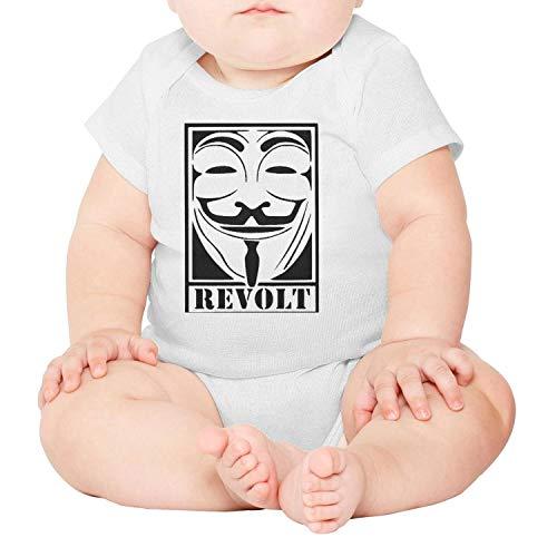Walter Fanny Unisex-Baby V-for-Vendetta-Revolt- Cotton Short-Sleeve Bodysuits