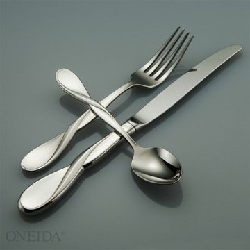 Oneida Aquarius 5pc Place Setting Set, Oneida Stainless Steel Flatware
