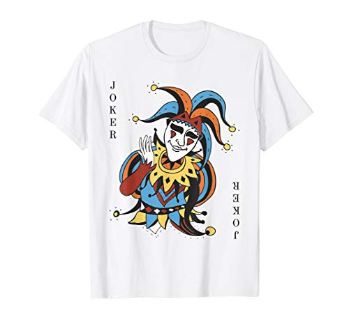 Joker Playing Card Halloween Costume T-shirt Wild -
