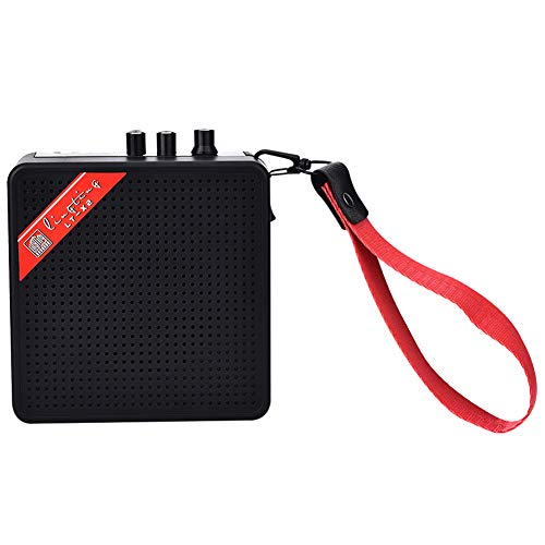 MSlongzc Portable Mini USB Battery Power Supply Electric Bass Guitar Amplifier Speaker Black ()