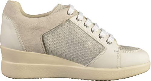 Geox C0007 Mujer silver Para D Zapatillas B Stardust Blanco white pwO1pqT