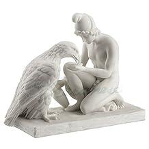 Unicorn Studios WU73354AA Ganymed Waters Zeus As An Eagle, Marble White