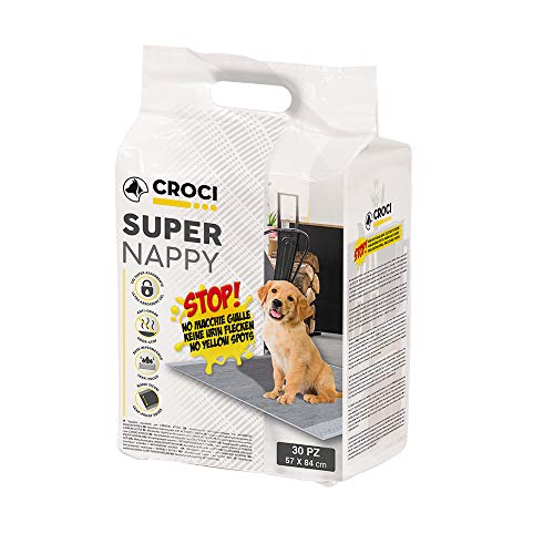 Croci C6028173 Estera de Carbón Activado Super Nappy, 84 x 57 cm, 30 Piezas