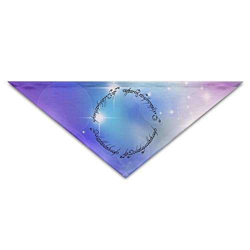 [Pet Bandanas - Personalized Lord Of Ring Letters Circle Pet Bandana Scarf - Triangle Scarf Collar Neckerchief For Dog] (Lord Of The Rings Costumes Aragorn)