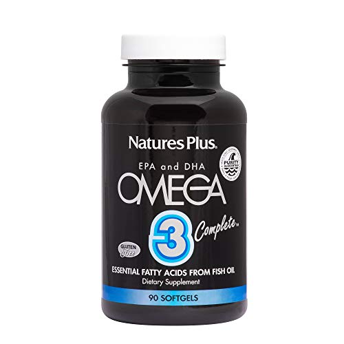 (Natures Plus Omega 3 Complete - 162 mg EPA, 108 mg DHA, 90 Softgels - Fatty Acid Fish Oil Supplement, Joint Health & Immune System Support - Gluten Free - 90 Servings)