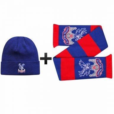 公式クリスタルPalace冬ウォーマー帽子&スカーフギフトセット B079X5GXRM