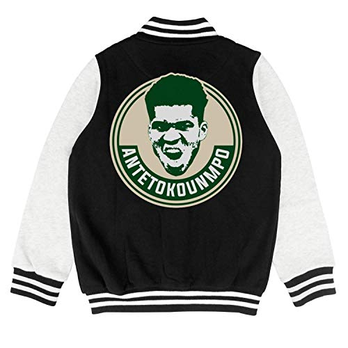 34 Basketball Player Logo Child Varsity Coat Sports Baseball Jacket for 2-10 Y