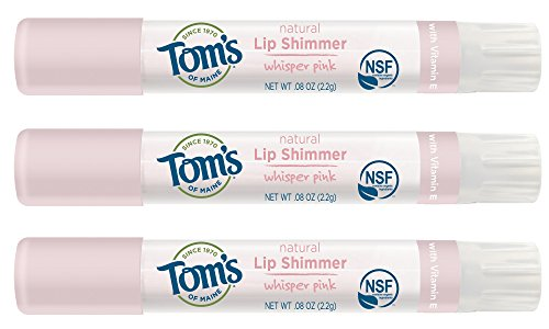 Tom's of Maine Natural Lip Shimmer, Whisper Pink, 0.08 Ounce, 3 Count by Tom's of Maine