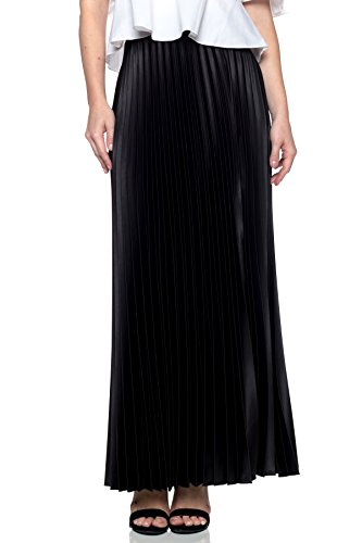 J2 LOVE Made in USA Pleated A-line Long Skirts, Black, for sale  Delivered anywhere in USA