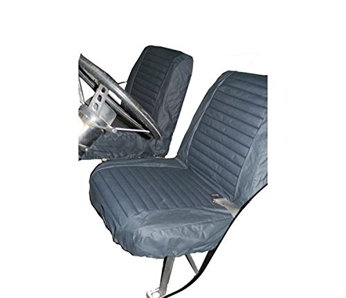 Bestop 29225-15 Black Denim Front Low Back Bucket Seat Cover Set for 1965-1979 CJ5 & 1976-1980 CJ7 (Sold as Pair)