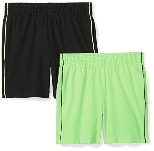 Zebra Woven - Spotted Zebra Big Boys' 2-Pack Active Woven Shorts, Green/Black, Medium (8)