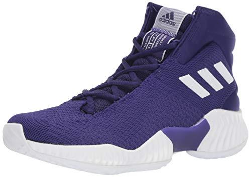 34726e6409db8 adidas Men's Pro Bounce 2018 Basketball Shoe, White/Regal Purple, 9 M US