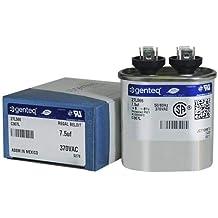 Genteq GENTEQ - C307L / 27L566 FAST SHIPPING! GE Capacitor Oval 7.5 uf MFD 370 volt 27L566, 27L566S(replaces old GE# 97F9001, Z97F9001, 97F9001BX & 27L566BZ3), 7.5 MFD at 370 volts