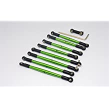 Traxxas 1/16 Mini E-Revo, Mini Summit Upgrade Parts Aluminum Completed Tie Rod - 9 Pcs Green