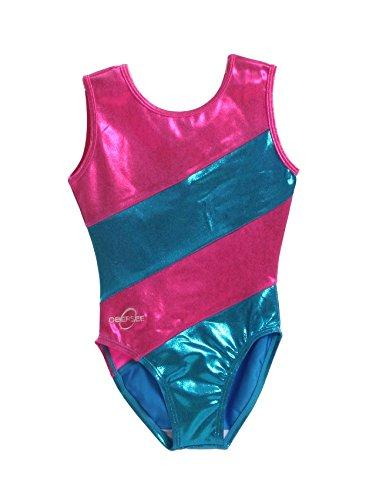 Obersee Girl's Gymnastics Leotard, Pink Diagonal, CL