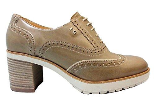 Estilo De Nerogiardin Inglés Marina Y Zapatos Tórtola Guerra Cordones Negro Mujer P805041d Gris EEUnqz