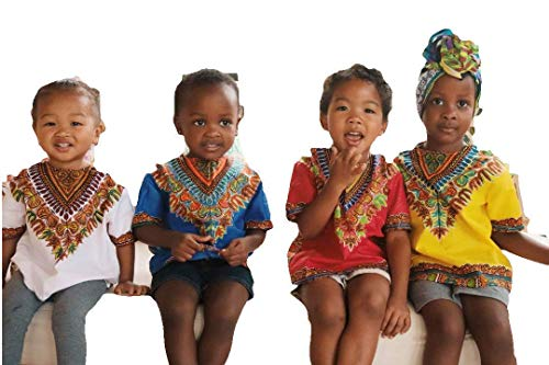 Dashiki for Kids Toddlers Babies Boys and Girls for Black History Month African Attire